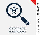 caduceus search icon. editable...   Shutterstock .eps vector #1279441522