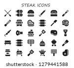 steak icon set. 30 filled... | Shutterstock .eps vector #1279441588
