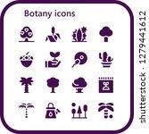 botany icon set. 16 filled... | Shutterstock .eps vector #1279441612