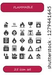 flammable icon set. 25 filled... | Shutterstock .eps vector #1279441645