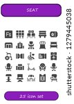 seat icon set. 25 filled seat... | Shutterstock .eps vector #1279445038