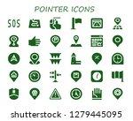 pointer icon set. 30 filled... | Shutterstock .eps vector #1279445095