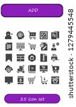 add icon set. 25 filled add... | Shutterstock .eps vector #1279445548