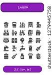 lager icon set. 25 filled... | Shutterstock .eps vector #1279445758