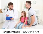 father and daughter visiting... | Shutterstock . vector #1279446775