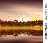 3d illustration. colorful... | Shutterstock . vector #1279448158