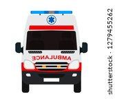 ambulance van flat vector front ... | Shutterstock .eps vector #1279455262