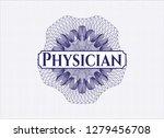 blue passport rosette with text ...   Shutterstock .eps vector #1279456708