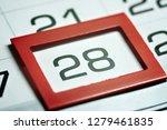 twenty eighth of the month... | Shutterstock . vector #1279461835