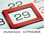 twenty ninth of the month... | Shutterstock . vector #1279461838