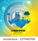 futuristic city illustration ... | Shutterstock .eps vector #1279481938