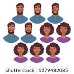 portrait of african man and...   Shutterstock . vector #1279482085