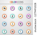 agricultural icons set for web... | Shutterstock .eps vector #1279491028