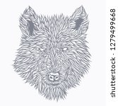 wolf drawn in detail. original... | Shutterstock .eps vector #1279499668