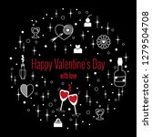 happy valentine's day greeting...   Shutterstock .eps vector #1279504708