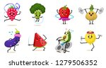 sports fruit characters. set of ... | Shutterstock .eps vector #1279506352