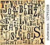 Stock photo alphabet background 127951538