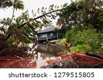 flash flooded damaged houses in ... | Shutterstock . vector #1279515805