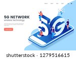 5g network wireless technology... | Shutterstock .eps vector #1279516615