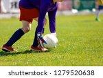 young soccer goalie goalkeeper. ...   Shutterstock . vector #1279520638