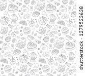 seamless valentine pattern of... | Shutterstock .eps vector #1279523638