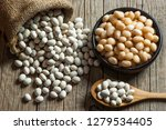 white dried haricot kidney... | Shutterstock . vector #1279534405