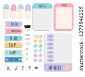 cute sticky note papers... | Shutterstock .eps vector #1279546225