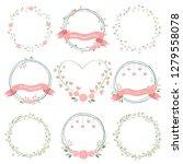 minimal valentines wreath in... | Shutterstock .eps vector #1279558078