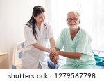 old man elderly or patient... | Shutterstock . vector #1279567798