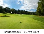 golf course in the countryside. | Shutterstock . vector #127956875