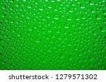 green water drops background... | Shutterstock . vector #1279571302