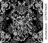 sseamless pattern with gothic... | Shutterstock .eps vector #1279574635