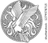 eagle heraldry coat of arms.... | Shutterstock .eps vector #1279578715