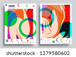 modern abstract covers set.... | Shutterstock .eps vector #1279580602