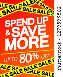 spend up and save more  sale... | Shutterstock .eps vector #1279599562