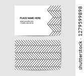 visit card vector template with ...   Shutterstock .eps vector #1279599898