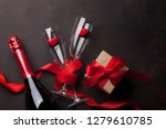 valentine's day greeting card... | Shutterstock . vector #1279610785