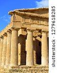 ancient greek temple concordia...   Shutterstock . vector #1279618285