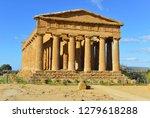 ancient greek temple concordia...   Shutterstock . vector #1279618288