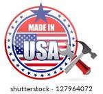 made in usa tools button seal... | Shutterstock . vector #127964072