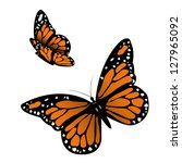 monarch butterfly. vector... | Shutterstock .eps vector #127965092
