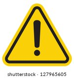 hazard warning attention sign... | Shutterstock .eps vector #127965605