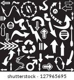 arrows seamless pattern | Shutterstock .eps vector #127965695