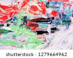 bright multi colored painting ... | Shutterstock . vector #1279664962