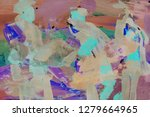 bright multi colored painting ... | Shutterstock . vector #1279664965