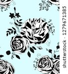 floral pattern.  black and... | Shutterstock .eps vector #1279671385