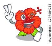 two finger flower hambiscus in...   Shutterstock .eps vector #1279684255