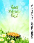 saint patrick's day with... | Shutterstock .eps vector #127969676