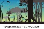 fantasy landscape with spider...   Shutterstock .eps vector #127970225