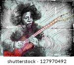 guitar virtuoso.     a hand...   Shutterstock . vector #127970492